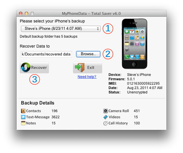 iPhone Recovery Software Free Download