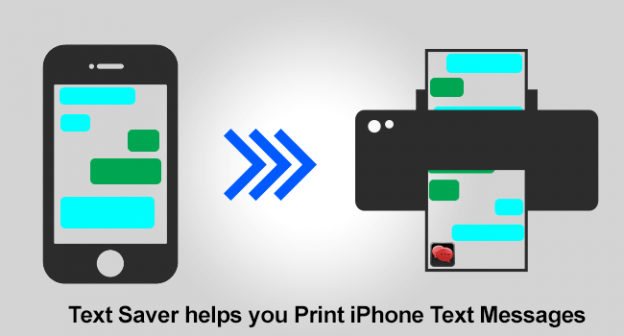Print iPhone text messages